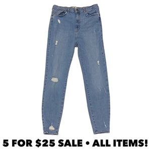 Forever 21 High Waist Distressed Jeggings